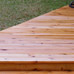 Cedar Deck Construction
